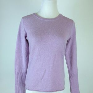 ONE GIRL WHO ANTHRO CASHMERE LAVENDER SWEATER S